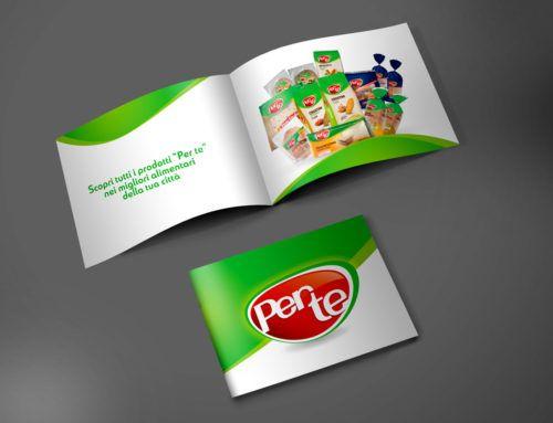 """Flyer, pieghevoli e roll-up realizzati per il marchio """"Per te"""""""