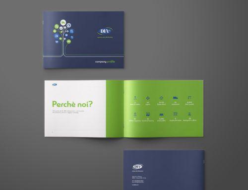 Company profile e Brochure aziendale per Di.A.