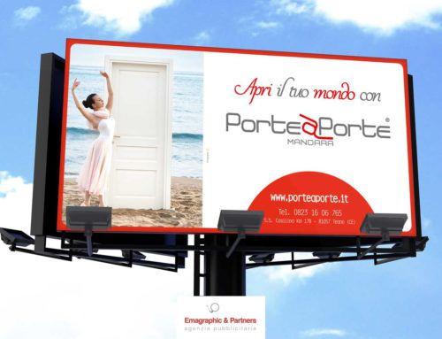 """Campagna pubblicitaria """"Apri il tuo mondo"""" realizzata per Porte a Porte"""