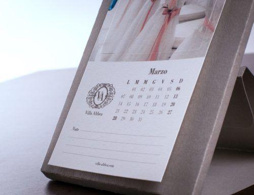 Calendario da scrivania per Villa Althea
